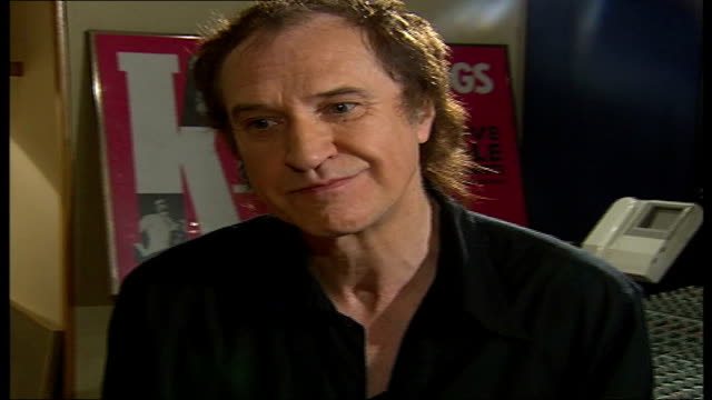 ray davies kinks songwriter and musician interview; tamzin sylvester asking question sot - you are so self-deprecating that's part of your... - the kinks stock videos & royalty-free footage