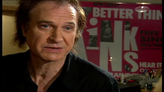ray davies kinks songwriter and musician interview; tamzin sylvester asking question sot - what do you make of the uk music scene at the minute, what... - the kinks stock videos & royalty-free footage