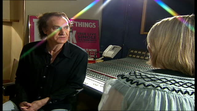 ray davies kinks songwriter and musician interview; tamzin sylvester asking question sot - another thing that it cites in the press release is the... - persuasion stock videos & royalty-free footage