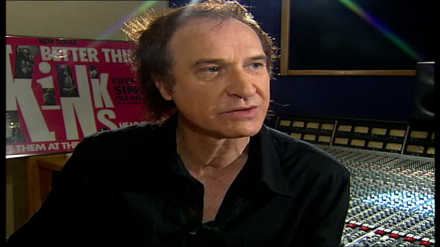 ray davies kinks songwriter and musician interview; tamzin sylvester asking question sot - you yourself have been touring and playing a couple of... - the kinks stock videos & royalty-free footage