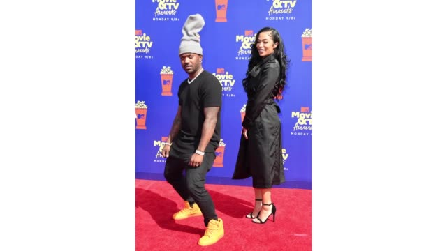 ray j and princess love attend the 2019 mtv movie and tv awards at barker hangar on june 15 2019 in santa monica california - barker hangar stock videos & royalty-free footage