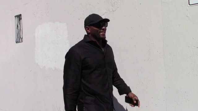 ray lewis attends dance practice at the dwts rehearsal studio in hollywood in celebrity sightings in los angeles - dancing with the stars stock videos & royalty-free footage