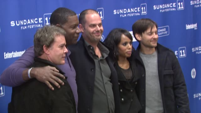 Ray Liotta Dennis Haysbert Jacob Aaron Estes Kerry Washington and Tobey Maguire at the 'The Details' Premiere 2011 Sundance Film Festival at Park...