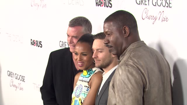 ray liotta kerry washington tobey maguire dennis haysbert at grey goose vodka hosts 'the details' premiere in hollywood 10/29/12 - grey goose vodka stock videos & royalty-free footage