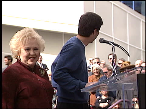ray romano at the dediction of doris roberts's walk of fame star at the hollywood walk of fame in hollywood, california on february 10, 2003. - doris roberts stock videos & royalty-free footage