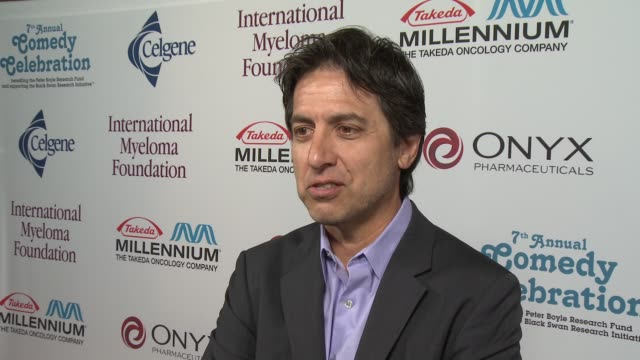ray romano on being at the event at international myeloma foundation 7th annual comedy celebration benefiting the peter boyle research fund &... - peter boyle stock videos & royalty-free footage