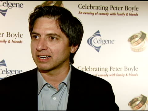 Ray Romano on the event and memories of Peter Boyle at the The International Myeloma Foundation Hosts 'Celebrating Peter Boyle' at the Wilshire Ebell...