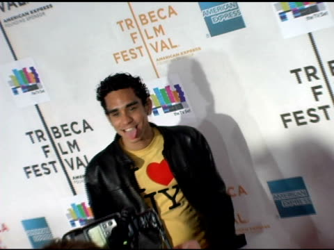ray santiago at the 2006 tribeca film festival 'the tv set' premiere at tribeca performing arts center in new york new york on april 28 2006 - performing arts center stock videos & royalty-free footage