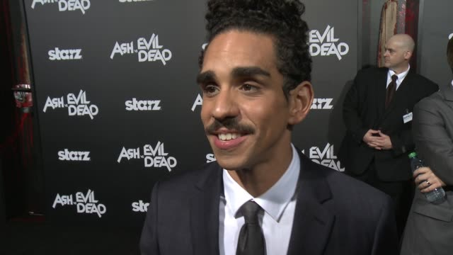 INTERVIEW Ray Santiago on the show being renewed for season 2 what to expect at the Ash Vs Evil Dead Los Angeles Premiere And Live Performance By...