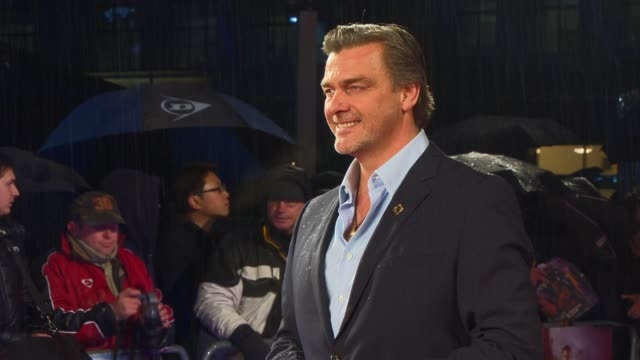 interview ray stevenson on his action fugure and on his 15 year old self dreaming to be an actor at the gi joe retaliation uk premiere on the 18th of... - joe stevenson stock videos and b-roll footage
