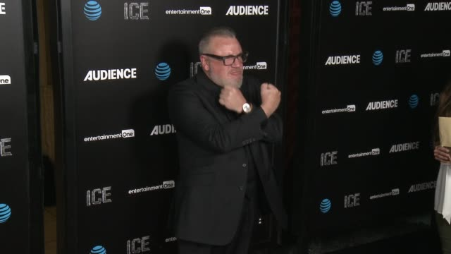 ray winstone at att's audience network celebrates the premiere of ice at arclight cinemas on november 09 2016 in hollywood california - ray winstone stock videos & royalty-free footage