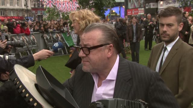 ray winstone at the world premiere of snow white and the huntsman at the odeon west end on may 14 2012 in london england - ray winstone stock videos & royalty-free footage