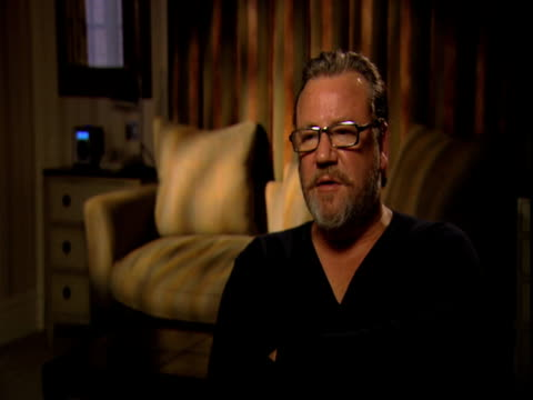 ray winstone on community revenge and camaraderie of the characters in the movie at the 44 inch chest ray winstone interview at london england - ray winstone stock videos & royalty-free footage