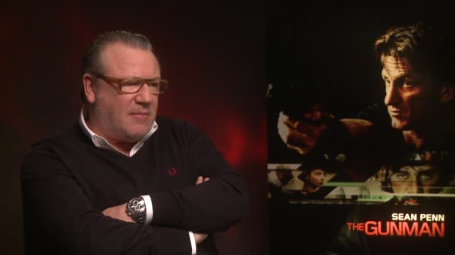 interview ray winstone on his experience of working with sean penn at 'the gunman' interviews at claridges hotel on february 17 2015 in london england - ray winstone stock videos & royalty-free footage