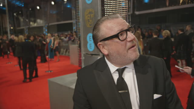 interview ray winstone on the bafta's and the british in hollywood at ee british academy film awards at the royal opera house on february 16 2014 in... - ray winstone stock videos & royalty-free footage