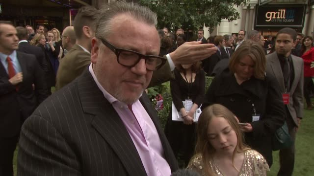 ray winstone on the other actors playing dwarfs and the story going bac to its dark source material at the world premiere of snow white and the... - ray winstone stock videos & royalty-free footage