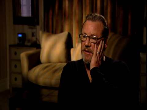 ray winstone on the swearing in the movie and how its used in the movie at the 44 inch chest ray winstone interview at london england - ray winstone stock videos & royalty-free footage