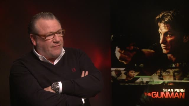 interview ray winstone on what attracted him to working on the movie 'the gunman' interviews at claridges hotel on february 17 2015 in london england - ray winstone stock videos & royalty-free footage