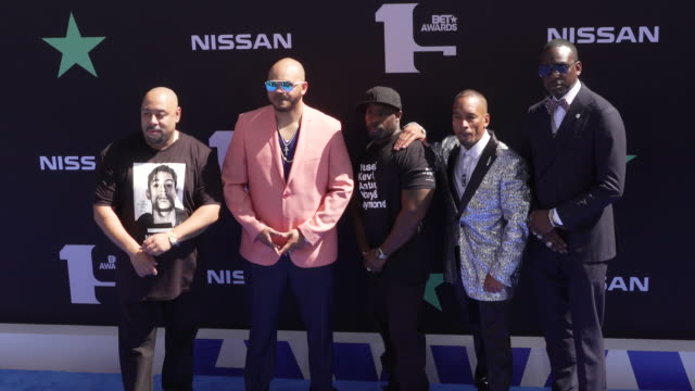 vídeos y material grabado en eventos de stock de raymond kevin richardson antron mccray korey wise and yuself salaam at the 2019 bet awards at microsoft theater on june 23 2019 in los angeles... - premios bet