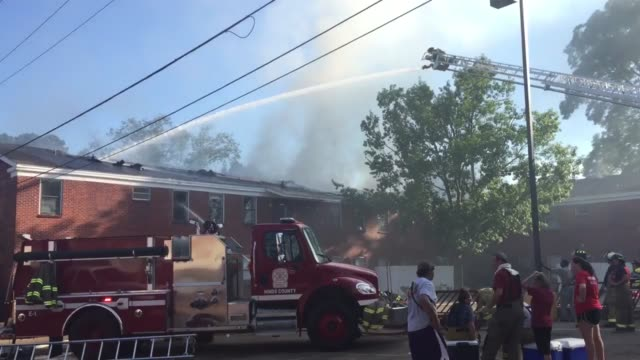 raymond, mississippi. hinds community college's williams hall dormitory caught fire today. students were out for summer break. no injuries were... - raymond maine stock videos & royalty-free footage