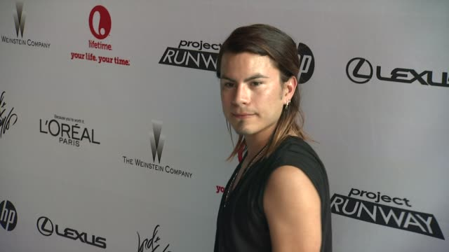 raymundo baltazar at project runway 10th anniversary party at highline on july 17 2012 in new york new york - project runway stock videos and b-roll footage