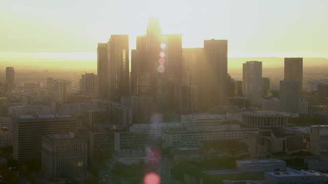 Rays Of Evening Sun In Downtown LA