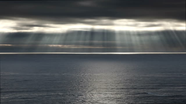 Rays of god over the sea