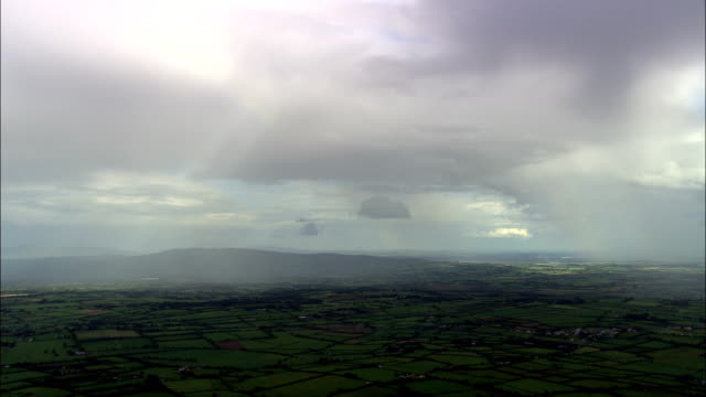 rays of sun and cloud  - aerial view - munster, cork, ireland - county cork stock videos & royalty-free footage