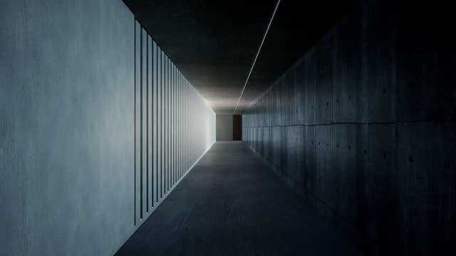 rays of sunlight fall through the concrete columns on the wall - concrete stock videos & royalty-free footage