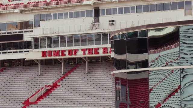 "razorback college football stadium, ""home of the razorbacks"" - arkansas stock videos & royalty-free footage"