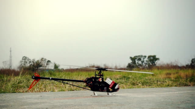 RC Helicopter model, Slow motion