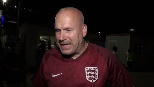 reaction from england and usa fans after the lionesses lost 2-1 to the usa in the women's world cup semi-final in lyon, france. - semifinal round stock videos & royalty-free footage