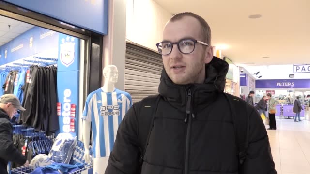 reaction from huddersfield town fans to the resignation of manager david wagner after two-and-a-half years at the club. wagner leaves the club bottom... - huddersfield town football club stock videos & royalty-free footage