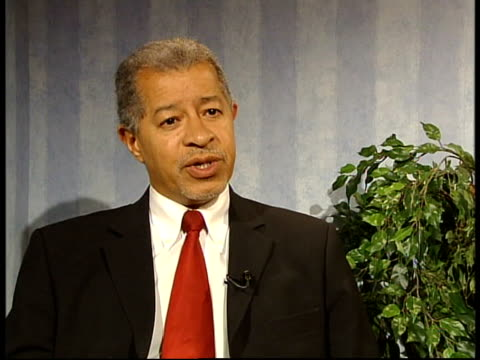reaction to racist comment made by ron atkinson itn int lord herman ouseley interview sot i don't think it's a case of being a racist/ it's a case of... - herman ouseley stock videos & royalty-free footage
