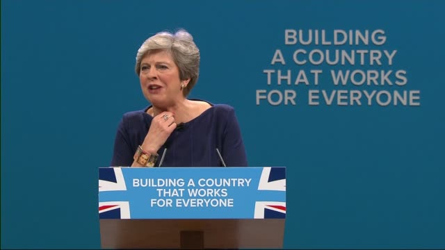 reaction to theresa may's speech at conservative party conference 4102017 manchester int theresa may mp giving speech at conservative party... - simon brodkin comedian stock videos and b-roll footage