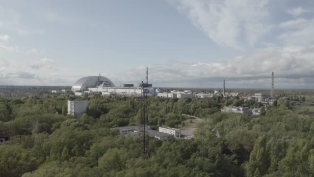 4 reactor under a sarcophagus in the chernobyl - nuclear reactor stock videos & royalty-free footage