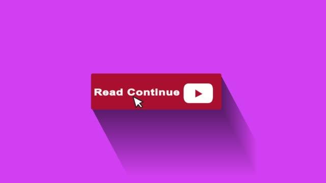 vidéos et rushes de lire continuer le graphisme et l'animation de mouvement du bouton - engagement des clients