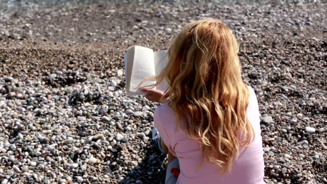 reading a book on the beach - byakkaya stock videos and b-roll footage
