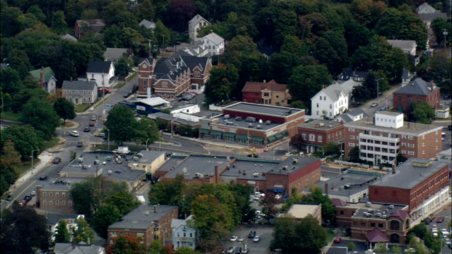reading  - aerial view - massachusetts,  middlesex county,  united states - cambridge massachusetts stock videos & royalty-free footage