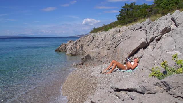 HD SUPER LENTA MISSOURI: Libro de lectura en la playa