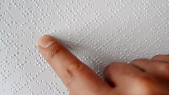 reading braille alphabet - visual impairment stock videos & royalty-free footage