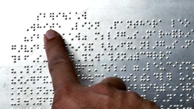 reading braille - braille stock videos & royalty-free footage
