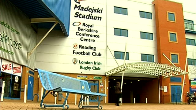 Exterior shots of Madejski Stadium More exterior shots of Madejski Stadium Sign denoting London Irish Rugby Club