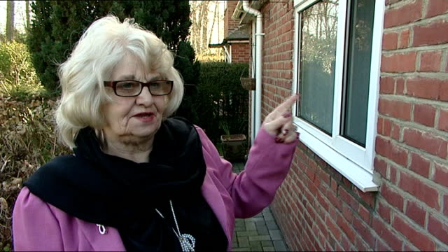 reading pensioner forced to pay council tax on fire-damaged property; england: reading: ext june scott and her daughter charmain mikosz surveying... - soot stock videos & royalty-free footage