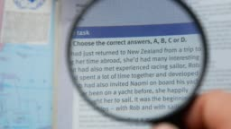 Reading text over magnifying glass