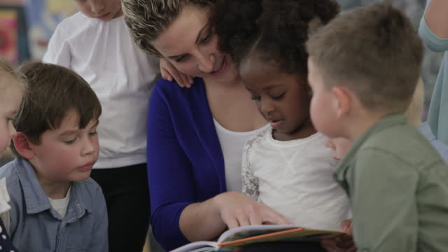 reading together in sunday school - nursery school building stock videos and b-roll footage