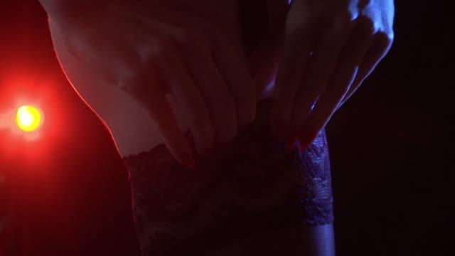 readjusting underwear - lingerie stock videos & royalty-free footage