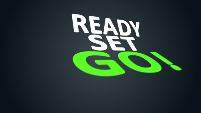 ready set go! - group of objects stock videos & royalty-free footage