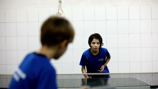 ready to serve the ball - table tennis stock videos and b-roll footage