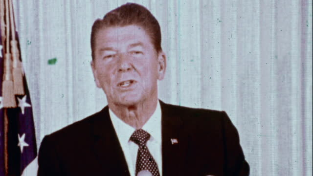 reagan delivers a speech to young americans for freedom - speech stock videos & royalty-free footage